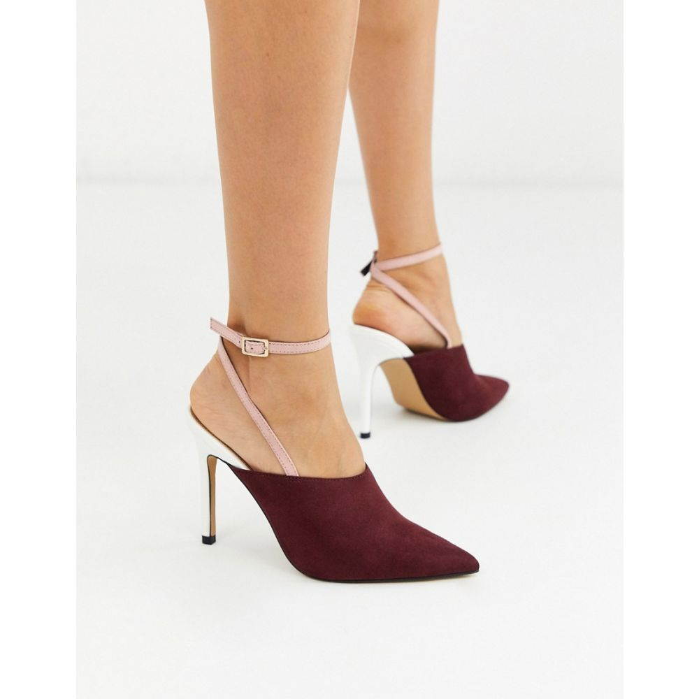 エイソス ASOS DESIGN レディース ヒール シューズ・靴【Photography pointed high heels in beige burgundy and white】Beige/burg/white