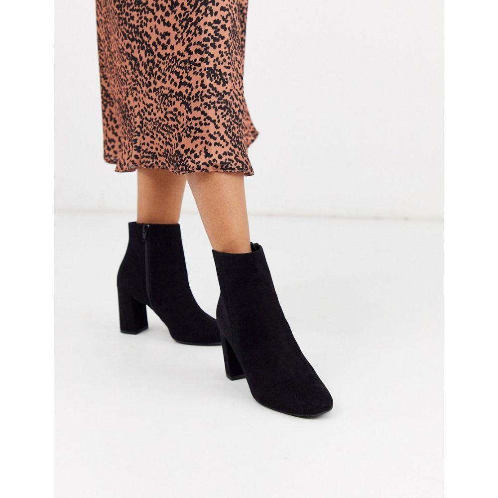ニュールック New Look レディース ブーツ チェルシーブーツ シューズ・靴【chelsea heeled round toe boot in black】Black