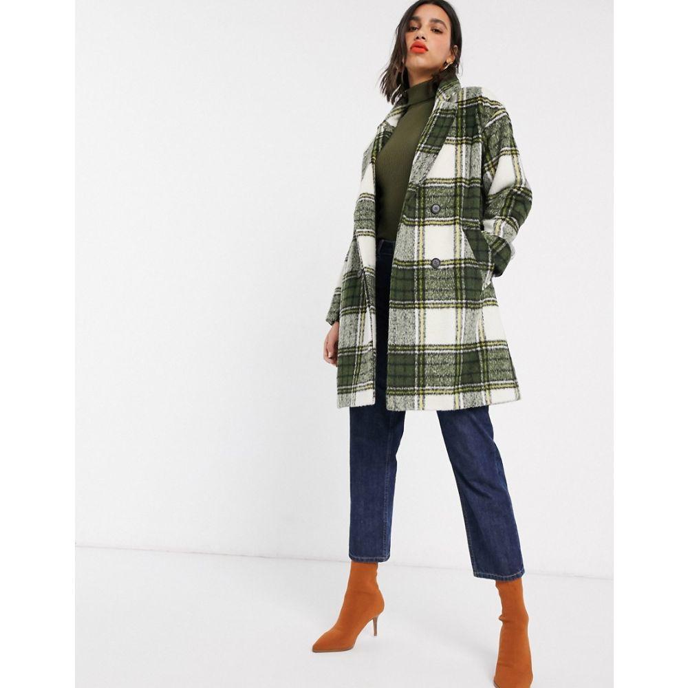 ミス セルフリッジ Miss Selfridge レディース コート アウター【double breasted coat in check】Check