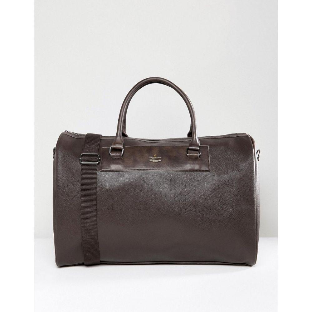 エイソス ASOS DESIGN メンズ ボストンバッグ・ダッフルバッグ バッグ【holdall in brown faux leather】Brown