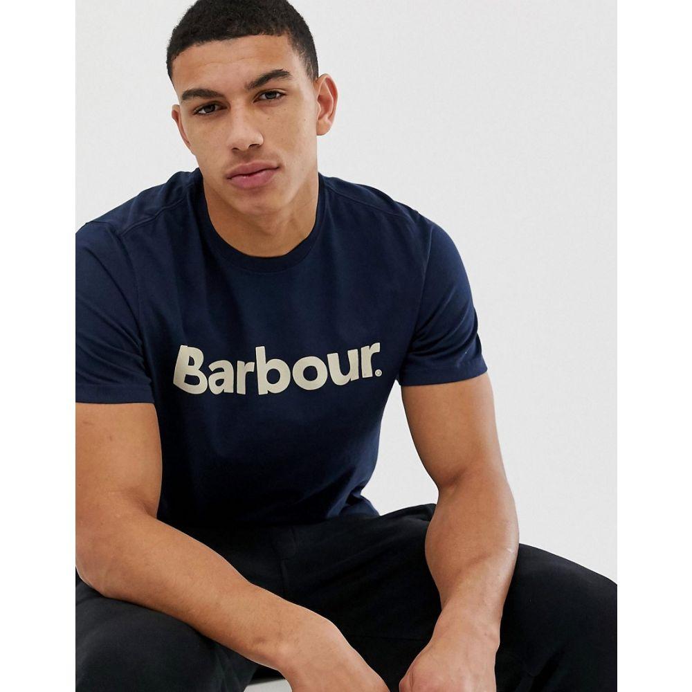 バブアー Barbour メンズ Tシャツ トップス【logo t-shirt in navy】Navy