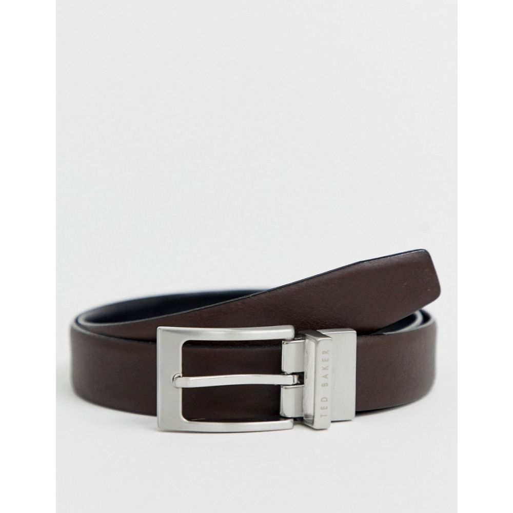 テッドベーカー Ted Baker メンズ ベルト 【Karmer reversible leather belt in brown】Brown