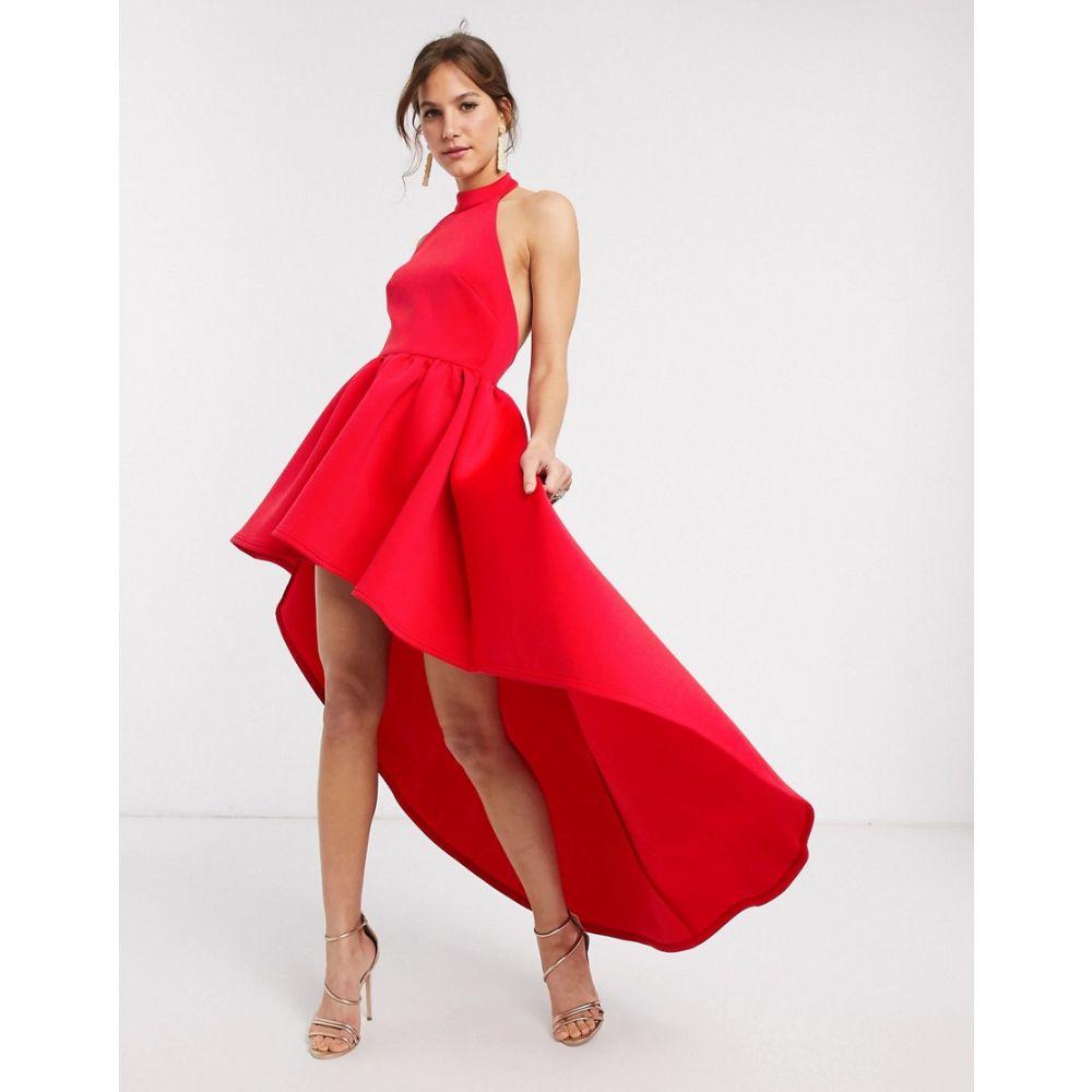 トゥルーヴァイオレット True Violet レディース ワンピース ミニ丈 ワンピース・ドレス【extreme high low mini dress in red】Red
