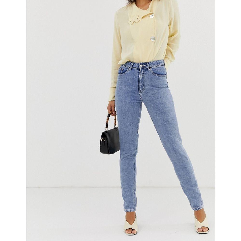 ヴェロモーダ Vero Moda レディース ジーンズ・デニム ボトムス・パンツ【high waist mom jeans light wash】Blue