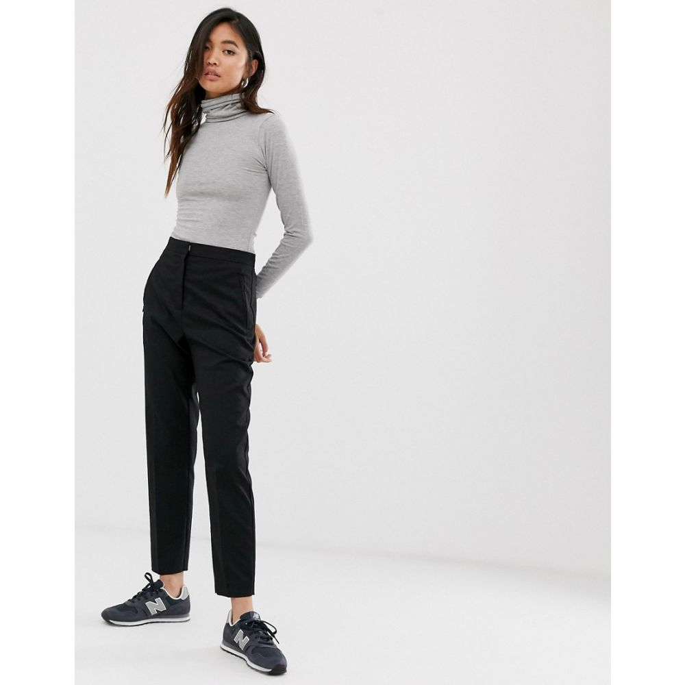 ウィークデイ Weekday レディース ボトムス・パンツ 【tailored trousers in black】Black