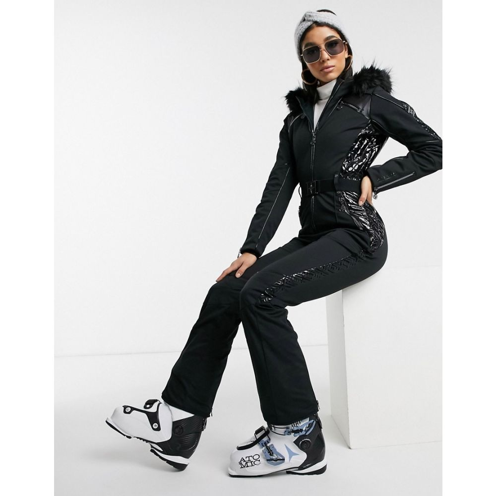 デア トゥビー Dare 2b レディース スキー・スノーボード ツナギ ボトムス・パンツ【X Julien Macdonald Maximum snow suit in black】Black