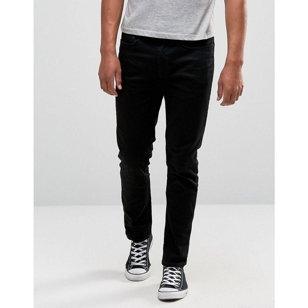 リバーアイランド River Island メンズ ジーンズ・デニム ボトムス・パンツ【slim fit jeans in black】Black