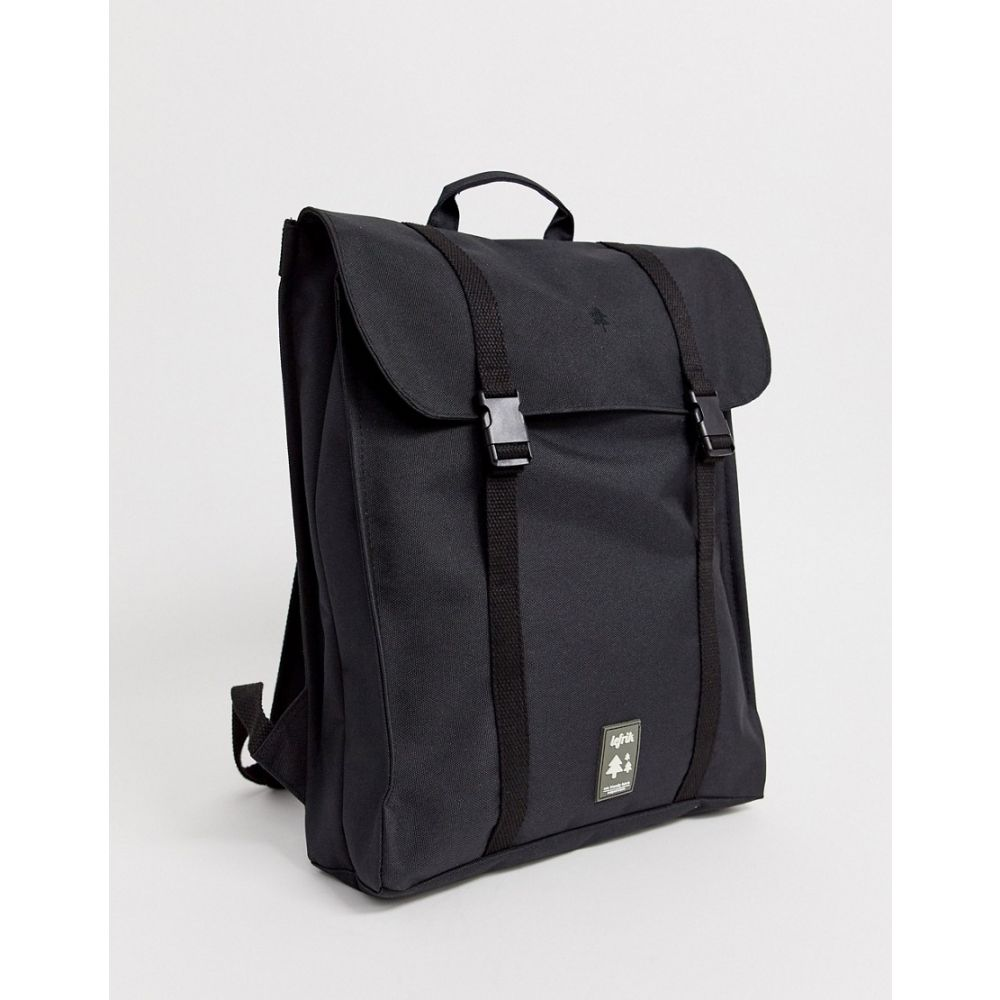 レフリク Lefrik メンズ バックパック・リュック バッグ【Handy recycled backpack in black】Black