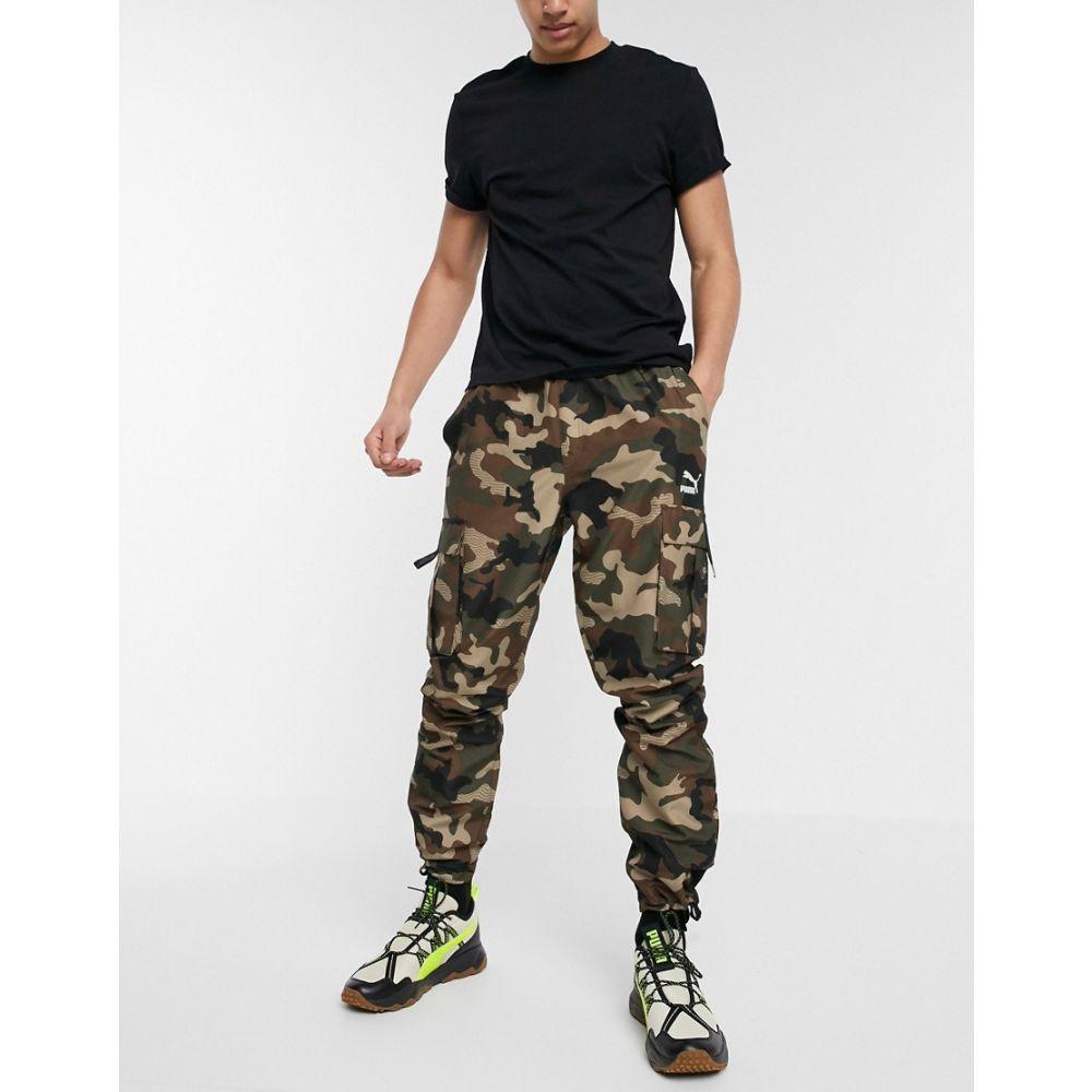 プーマ Puma メンズ カーゴパンツ ボトムス・パンツ【XTG Trail Camo Cargo Pants Green】Green