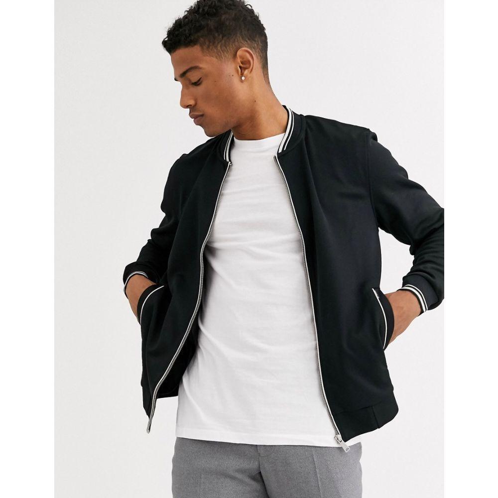 ベンシャーマン Ben Sherman メンズ ブルゾン ミリタリージャケット アウター【tricot bomber jacket】Black