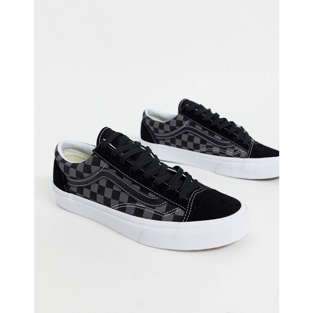 ヴァンズ Vans メンズ スニーカー シューズ・靴【Style 36 Checkerboard Black Pewter True White】Checkerboard black/