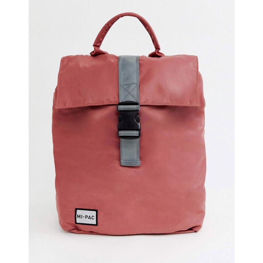 マイ パック Mi-Pac レディース バックパック・リュック バッグ【nylon fold top backpack in rose pink with reflective logo】Rose pink