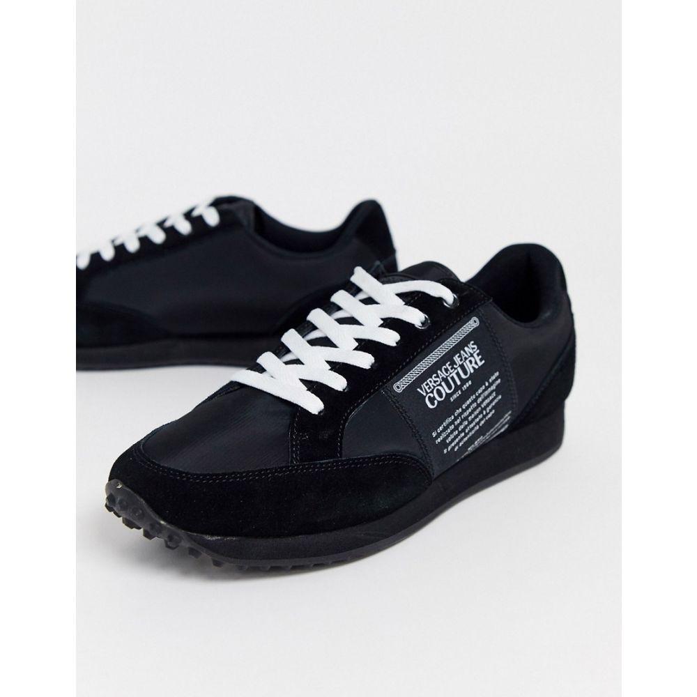 ヴェルサーチ Versace Jeans Couture メンズ ランニング・ウォーキング シューズ・靴【runner trainers in black】Black