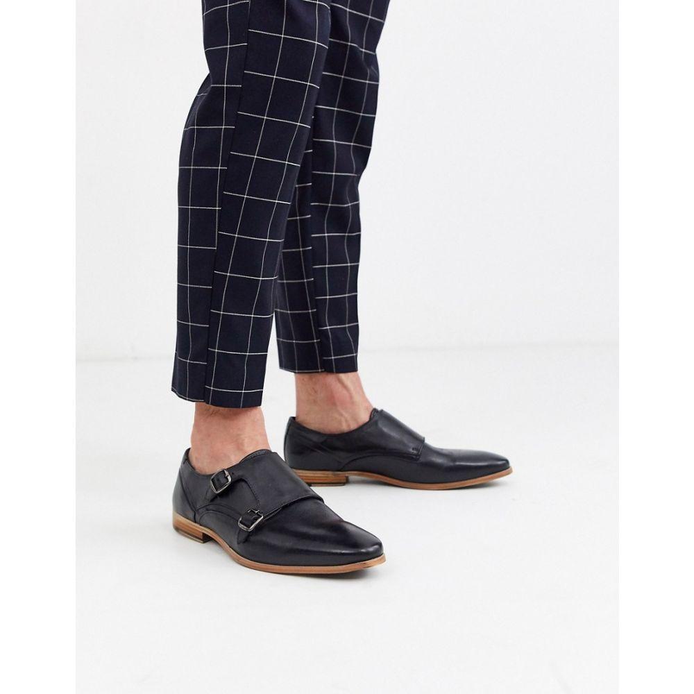 エイソス ASOS DESIGN メンズ 革靴・ビジネスシューズ シューズ・靴【monk shoes in black leather with natural sole】Black