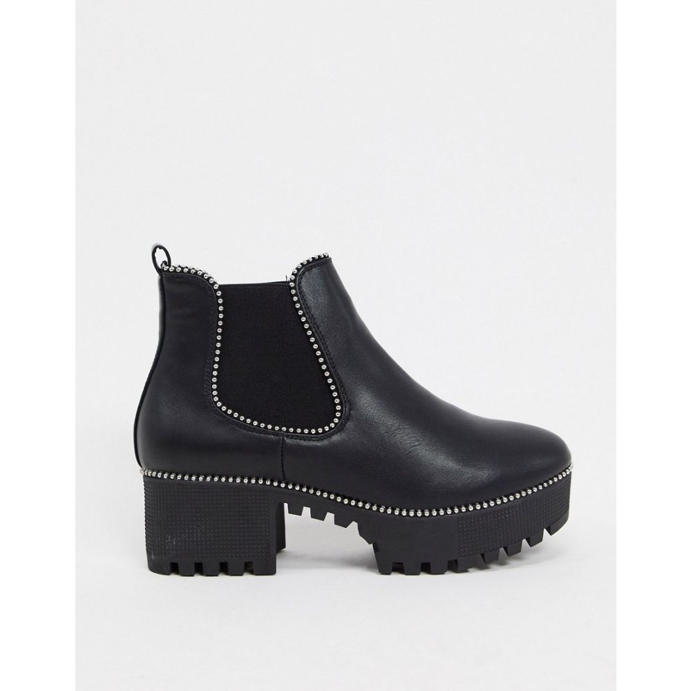 トリュフコレクション Truffle Collection レディース ブーツ チェルシーブーツ シューズ・靴【heeled chelsea boots in black】Black pu