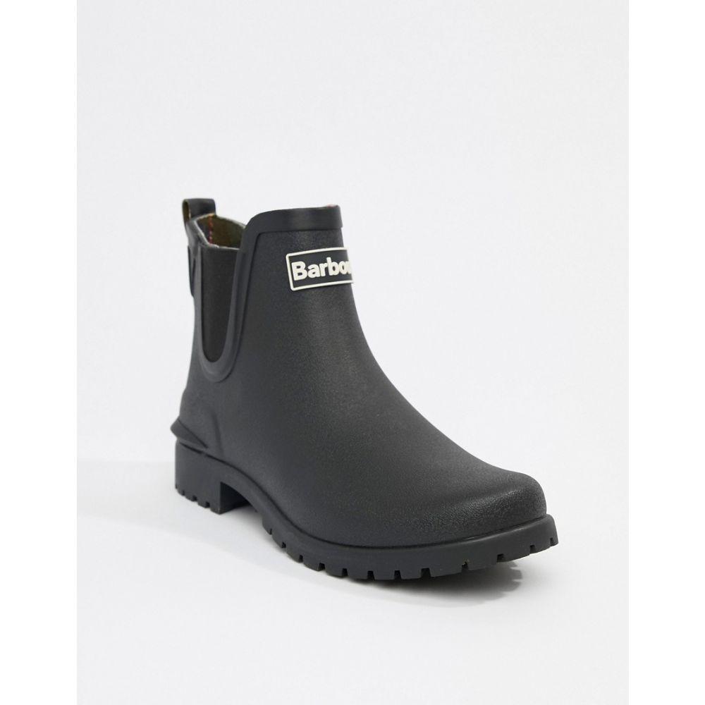 バブアー Barbour レディース ブーツ チェルシーブーツ シューズ・靴【Chelsea welly boot with logo detail】Black