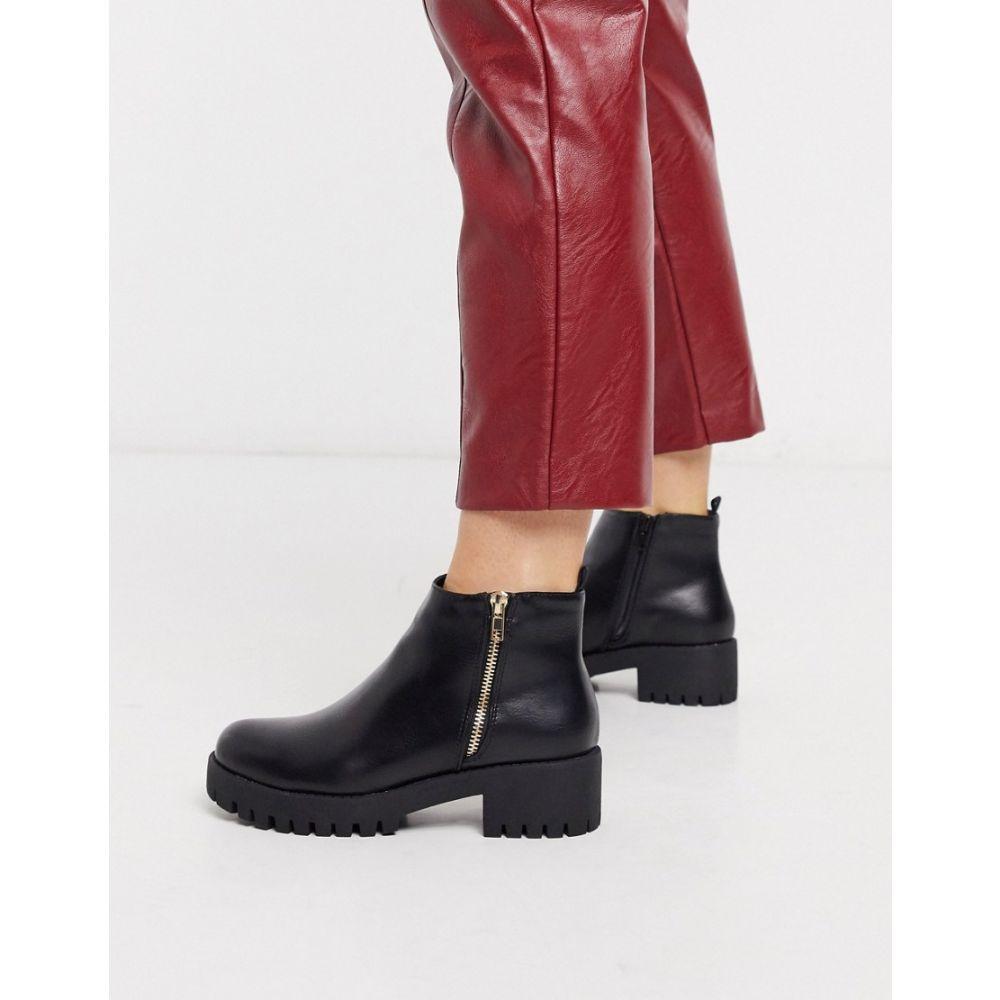 トリュフコレクション Truffle Collection レディース ブーツ シューズ・靴【side zip heeled boots in black】Black pu