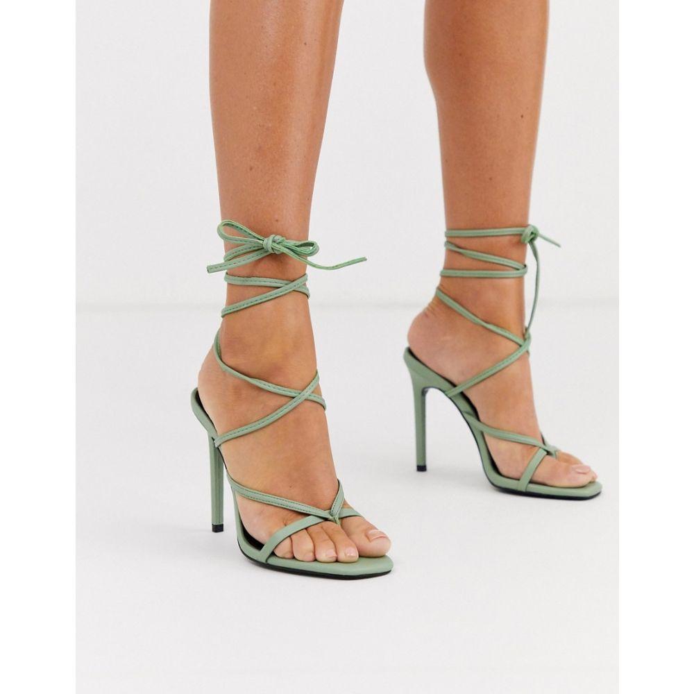 エイソス ASOS DESIGN レディース サンダル・ミュール シューズ・靴【Navigate barely there heeled sandals in mint】Mint