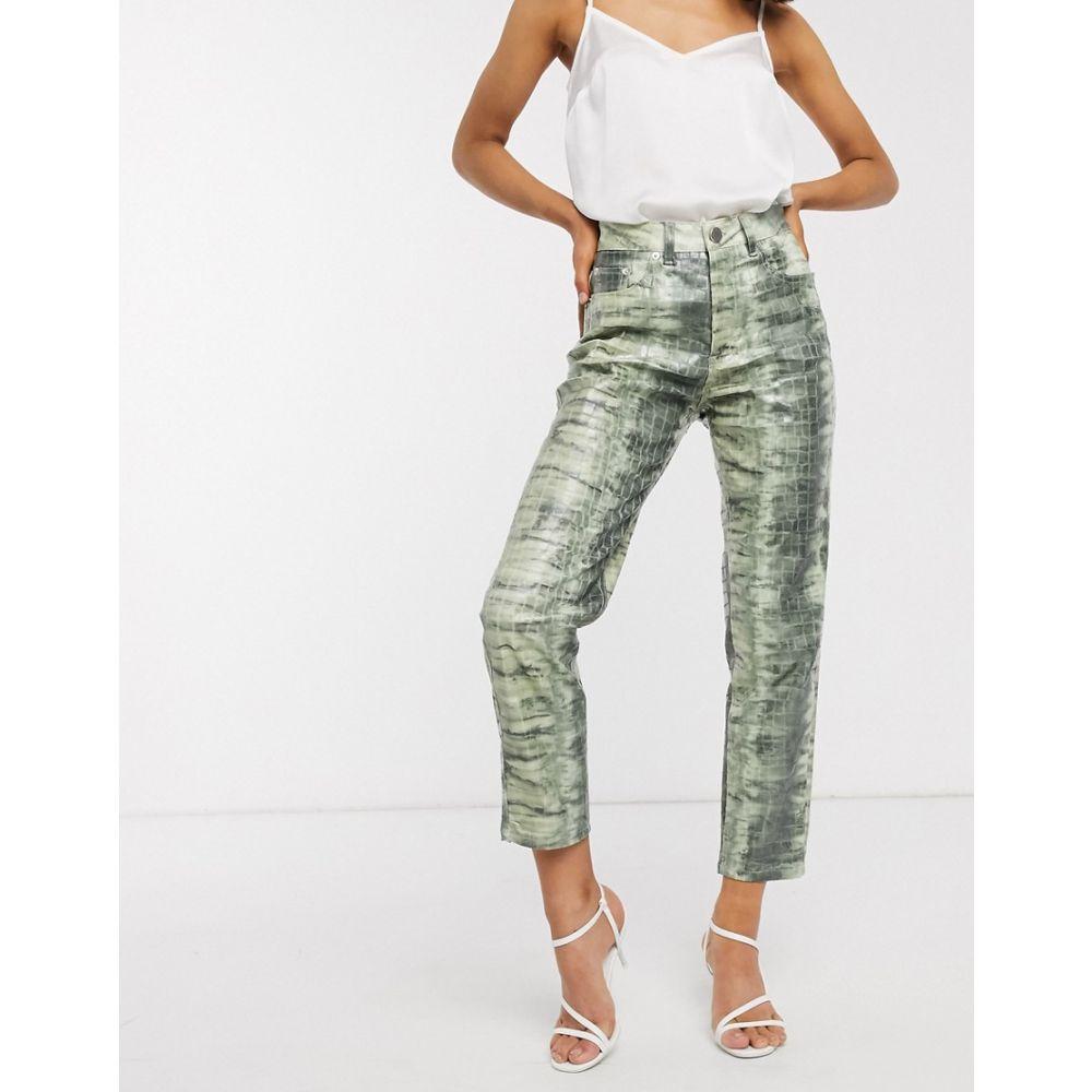 エイソス ASOS DESIGN レディース ジーンズ・デニム ボトムス・パンツ【Ritson original mom jeans in lizard print】Multi