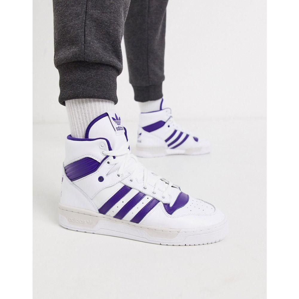 アディダス adidas Originals メンズ スニーカー シューズ・靴【rivalry hi top trainers in white and purple】White/purple