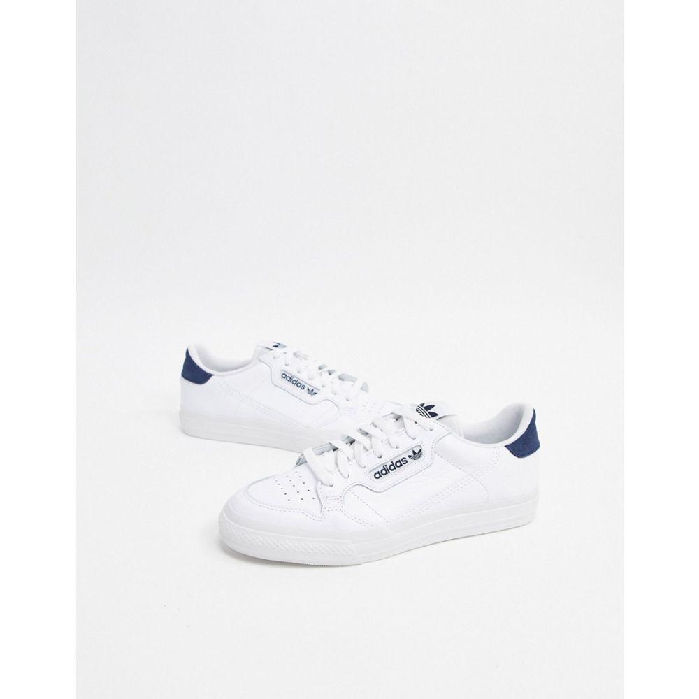 アディダス adidas Originals メンズ スニーカー シューズ・靴【continental vulc leather trainers white】White