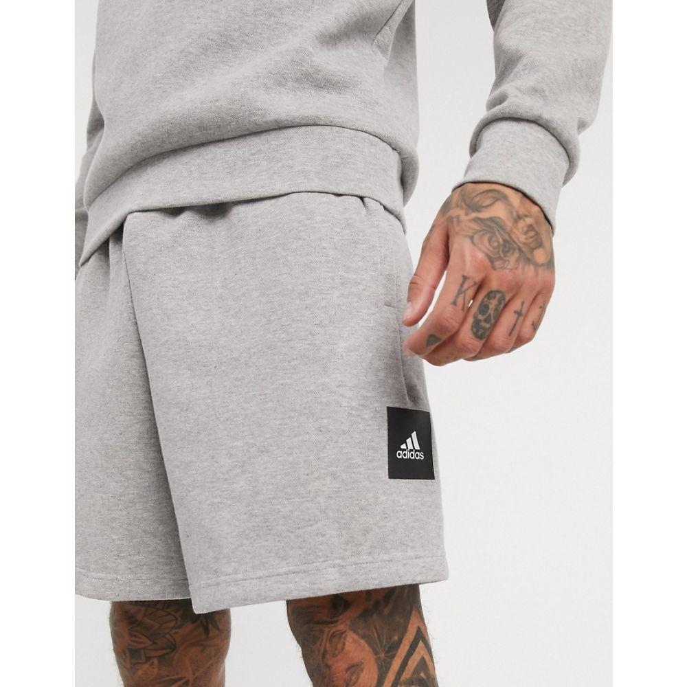 アディダス adidas performance メンズ ショートパンツ ボトムス・パンツ【adidas shorts with box logo in grey marl】Grey marl