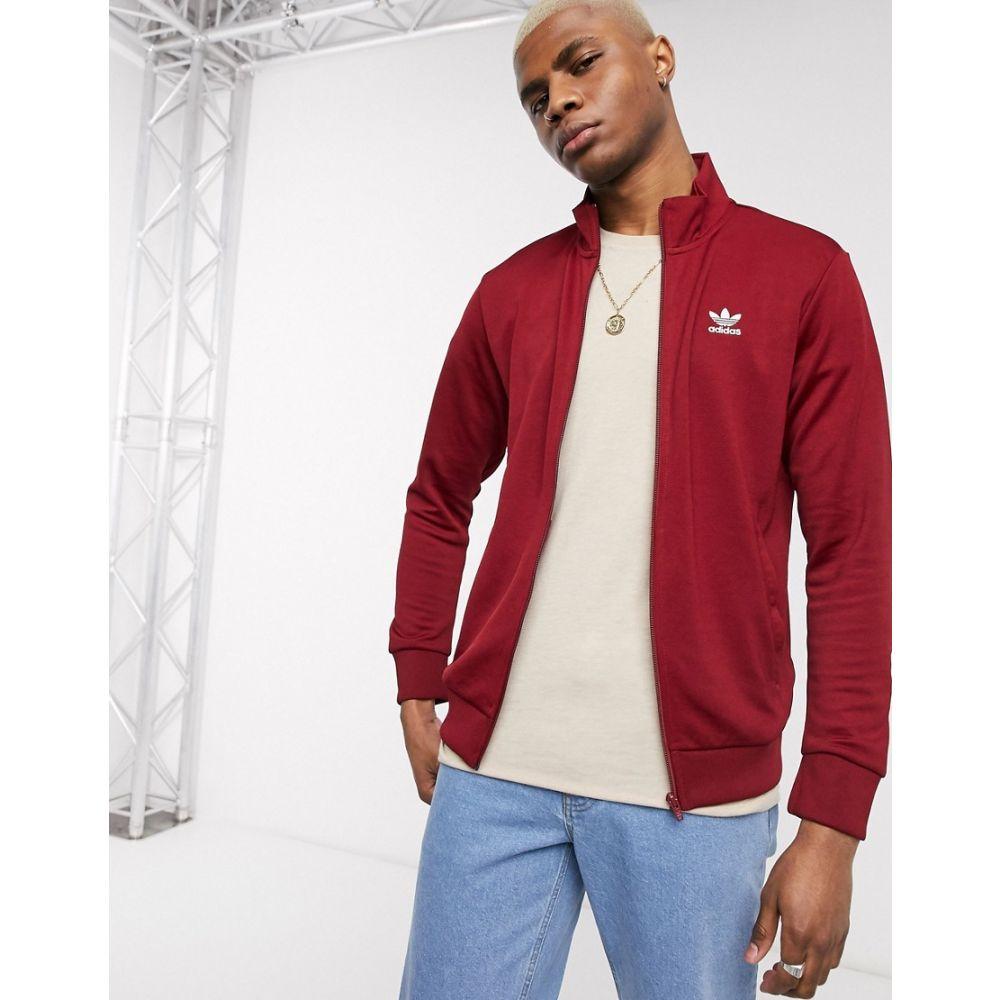 アディダス adidas Originals メンズ ジャージ アウター【essentials track jacket with trefoil logo in burgundy】Burgundy