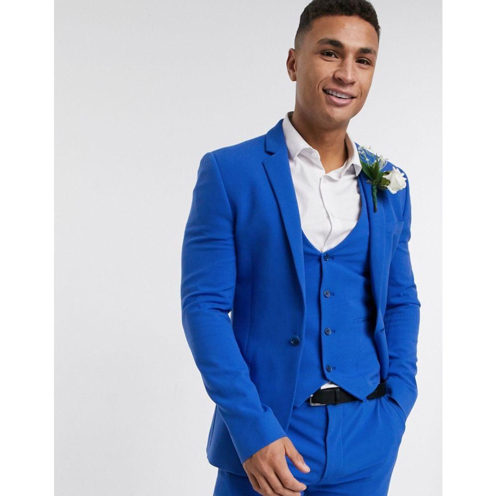 エイソス ASOS DESIGN メンズ スーツ・ジャケット アウター【super skinny suit jacket in bright blue】Bright blue
