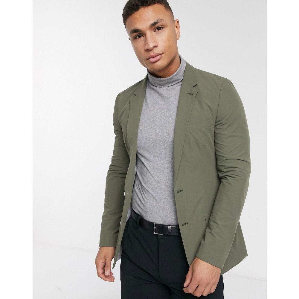 エイソス ASOS DESIGN メンズ スーツ・ジャケット アウター【casual skinny blazer in khaki】Grey
