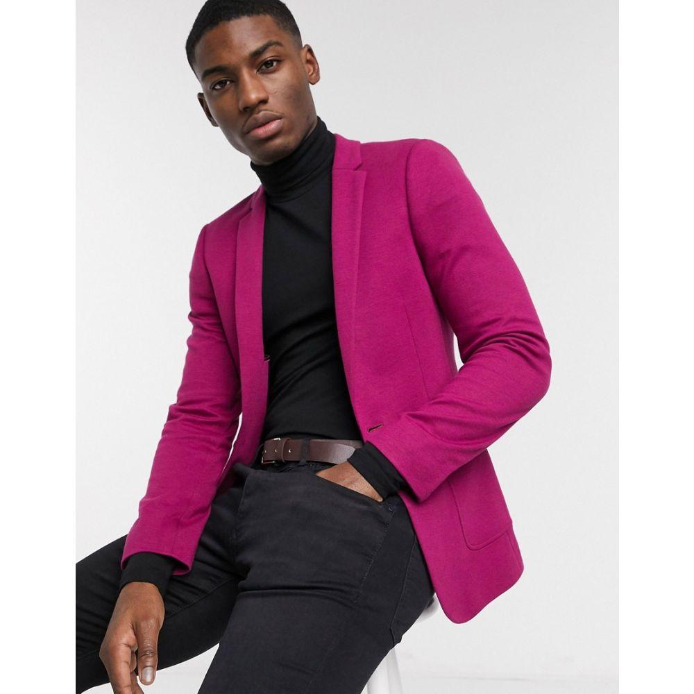 エイソス ASOS DESIGN メンズ スーツ・ジャケット アウター【super skinny jersey blazer in pink】Pink