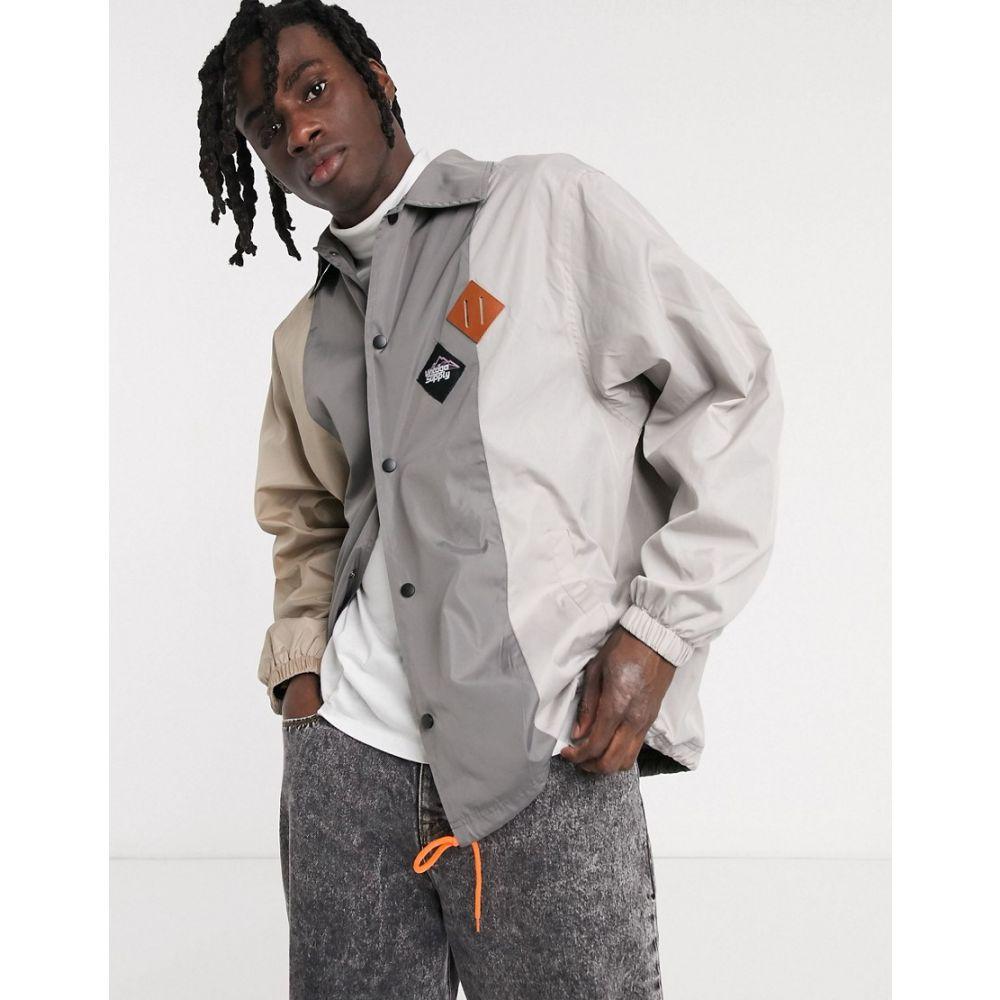 ヴィンテージ サプライ Vintage Supply メンズ ジャケット コーチジャケット アウター【tri colour coach jacket in cream】Cream
