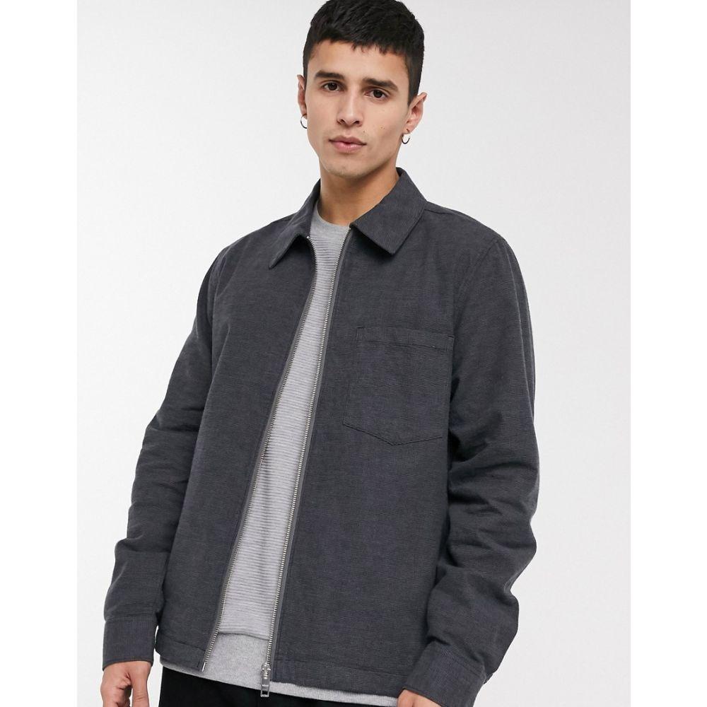 ウィークデイ Weekday メンズ シャツ オーバーシャツ トップス【Ahmed checked overshirt in dark grey】Grey