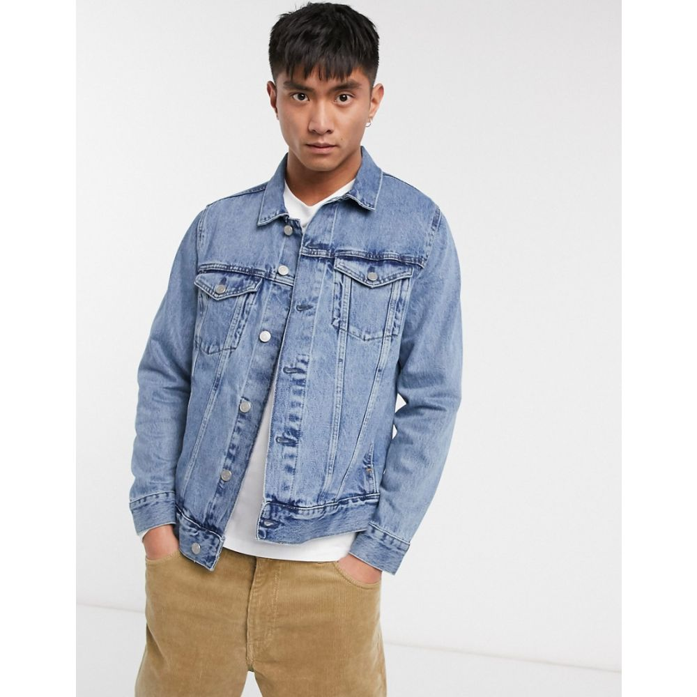 ウィークデイ Weekday メンズ ジャケット Gジャン アウター【single denim jacket in blue】Blue