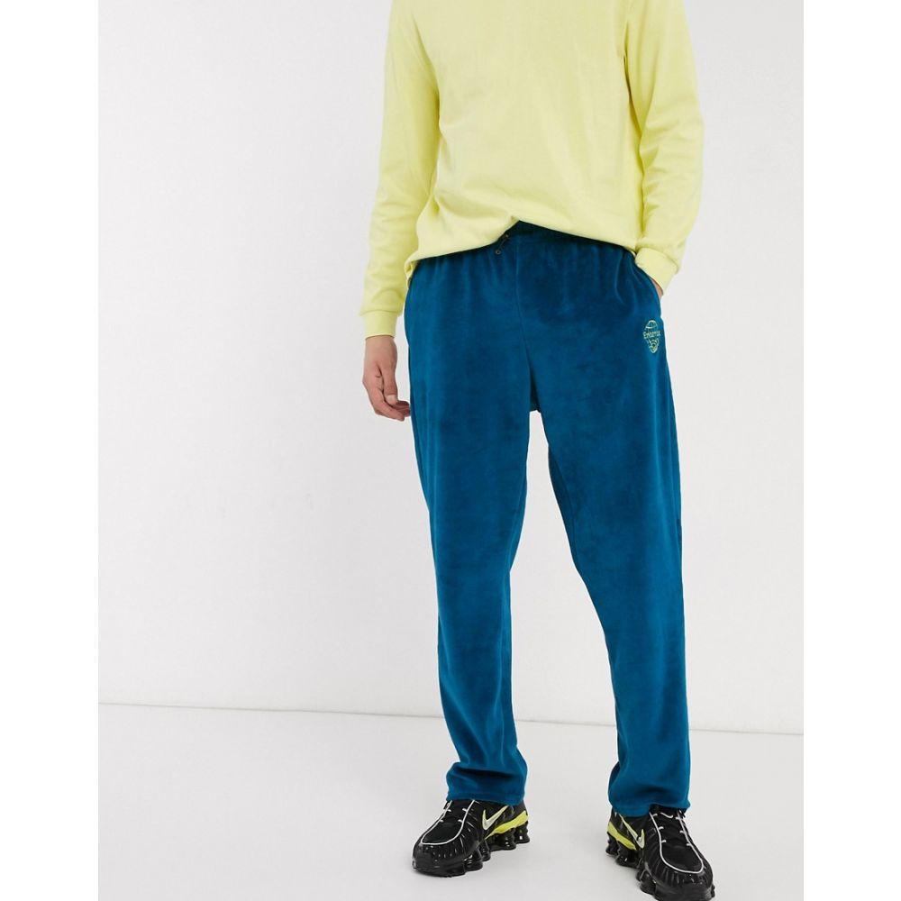 アンタント Entente メンズ ジョガーパンツ ボトムス・パンツ【towelling joggers in blue with logo】Blue