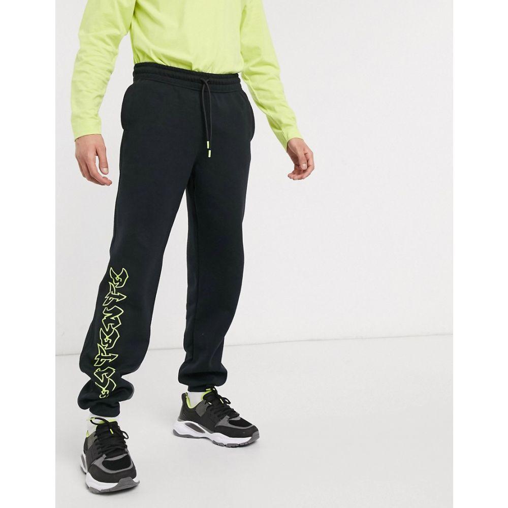 アンタント Entente メンズ ジョガーパンツ ボトムス・パンツ【joggers in black with neon logo】Black