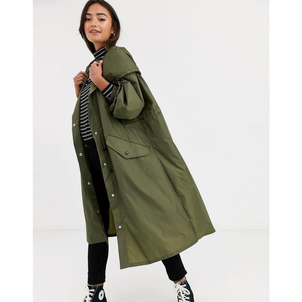 エイソス ASOS DESIGN レディース ジャケット フード アウター【lightweight hooded jacket in khaki】Khaki