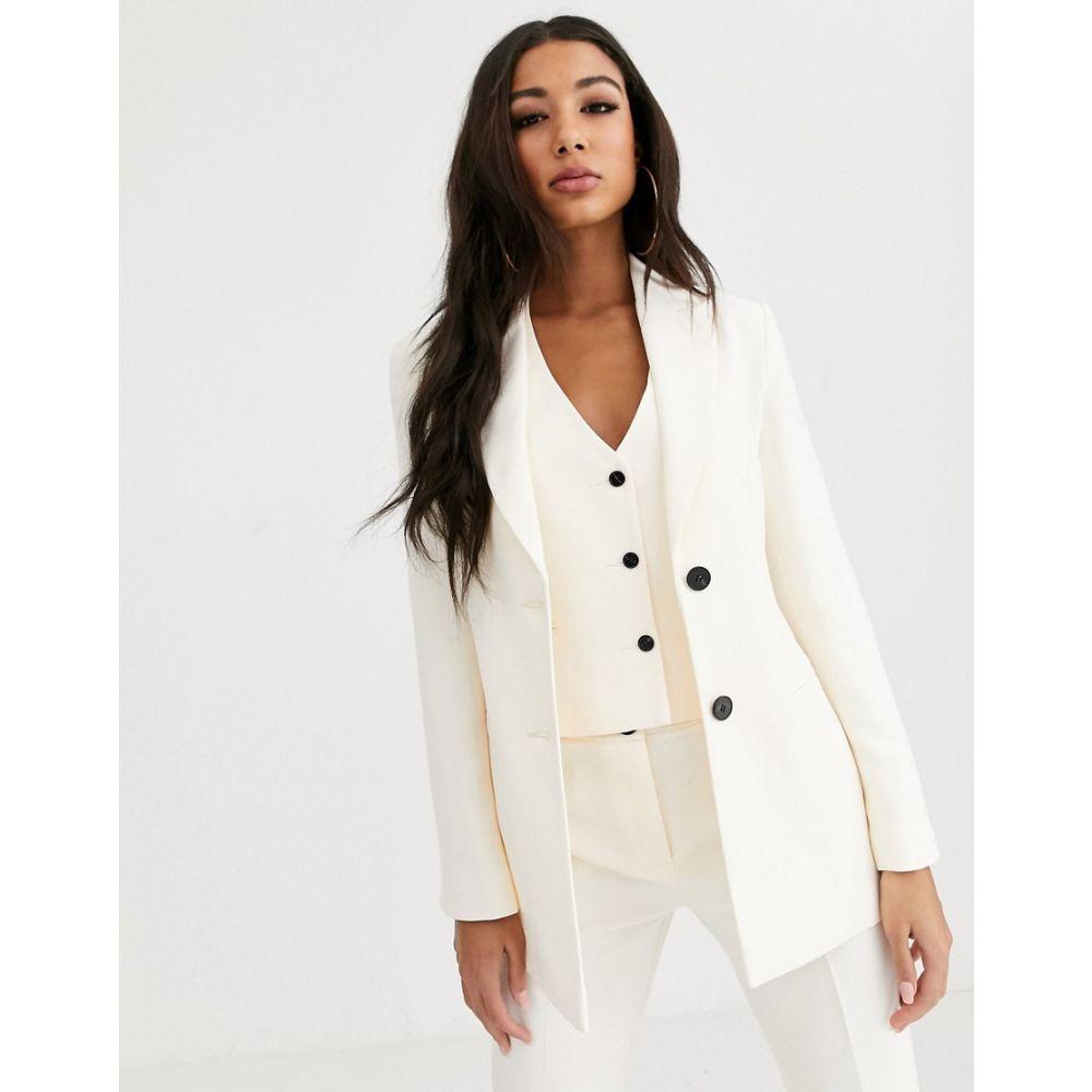 エイソス ASOS DESIGN レディース スーツ・ジャケット アウター【pop suit blazer in white】White