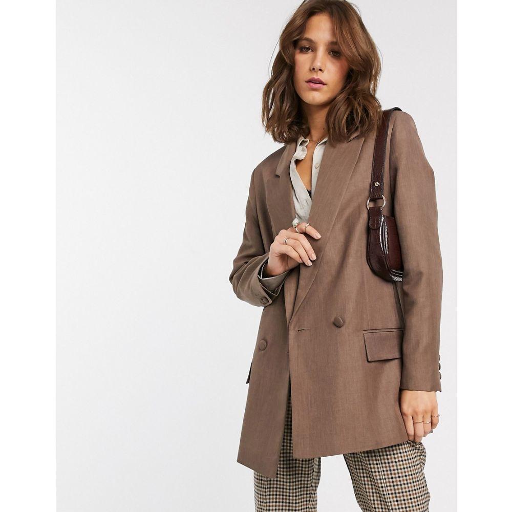 エイソス ASOS DESIGN レディース スーツ・ジャケット アウター【perfect blazer in brown】Brown