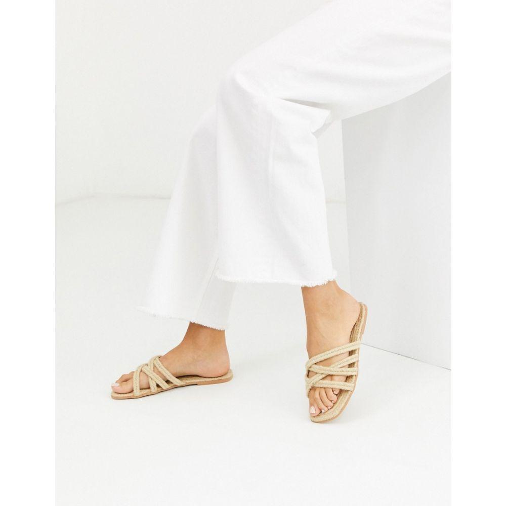 エイソス ASOS DESIGN レディース エスパドリーユ シューズ・靴【Jazzie espadrille sandals in natural】Natural