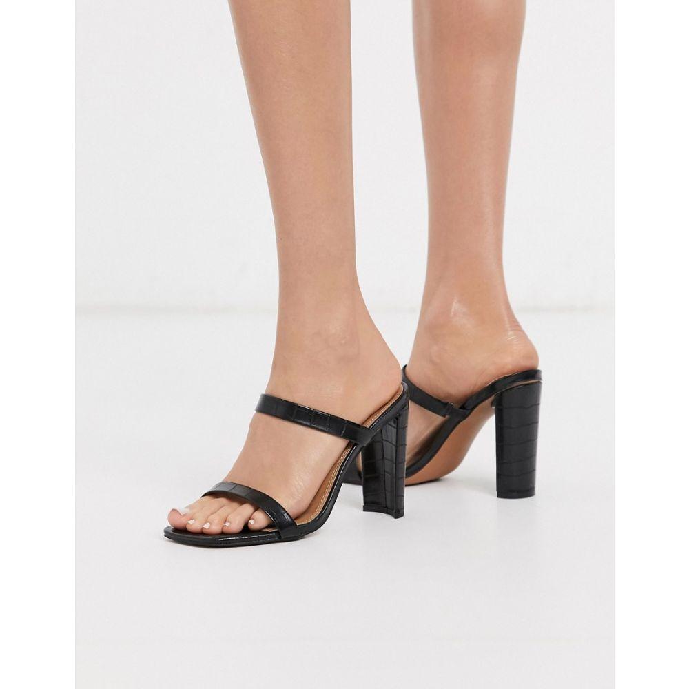 エイソス ASOS DESIGN レディース サンダル・ミュール シューズ・靴【Nashville block heeled mule in black】Black