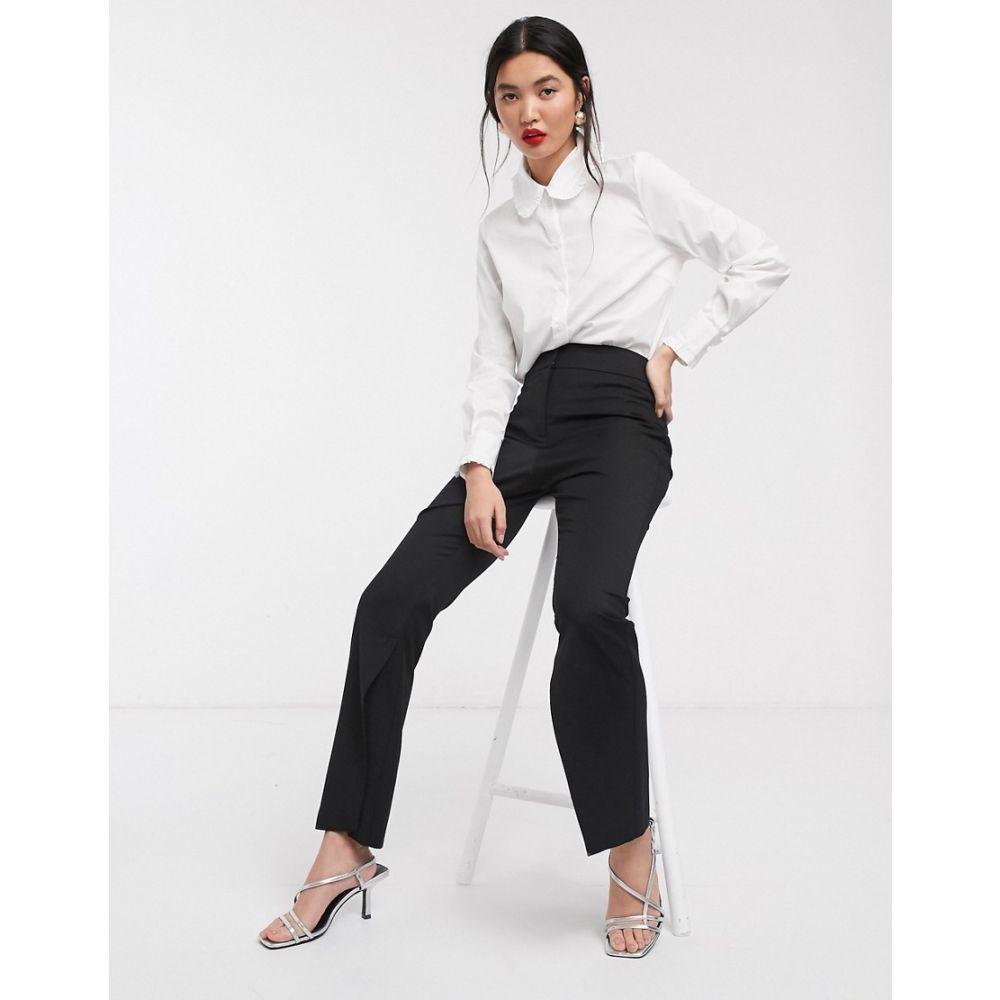 エイソス ASOS WHITE レディース ボトムス・パンツ 【split hem suit trouser】Black