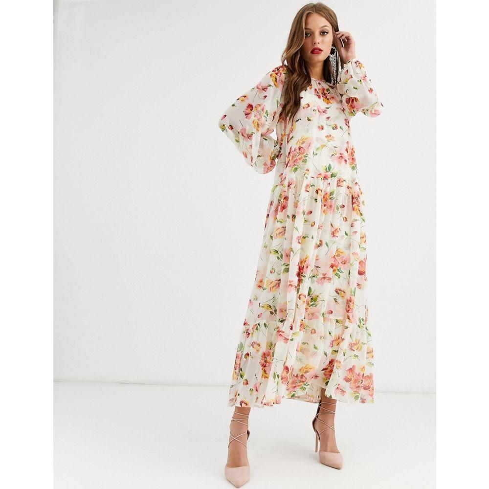 エイソス ASOS EDITION レディース ワンピース ワンピース・ドレス【oversized maxi dress in floral print】Multi