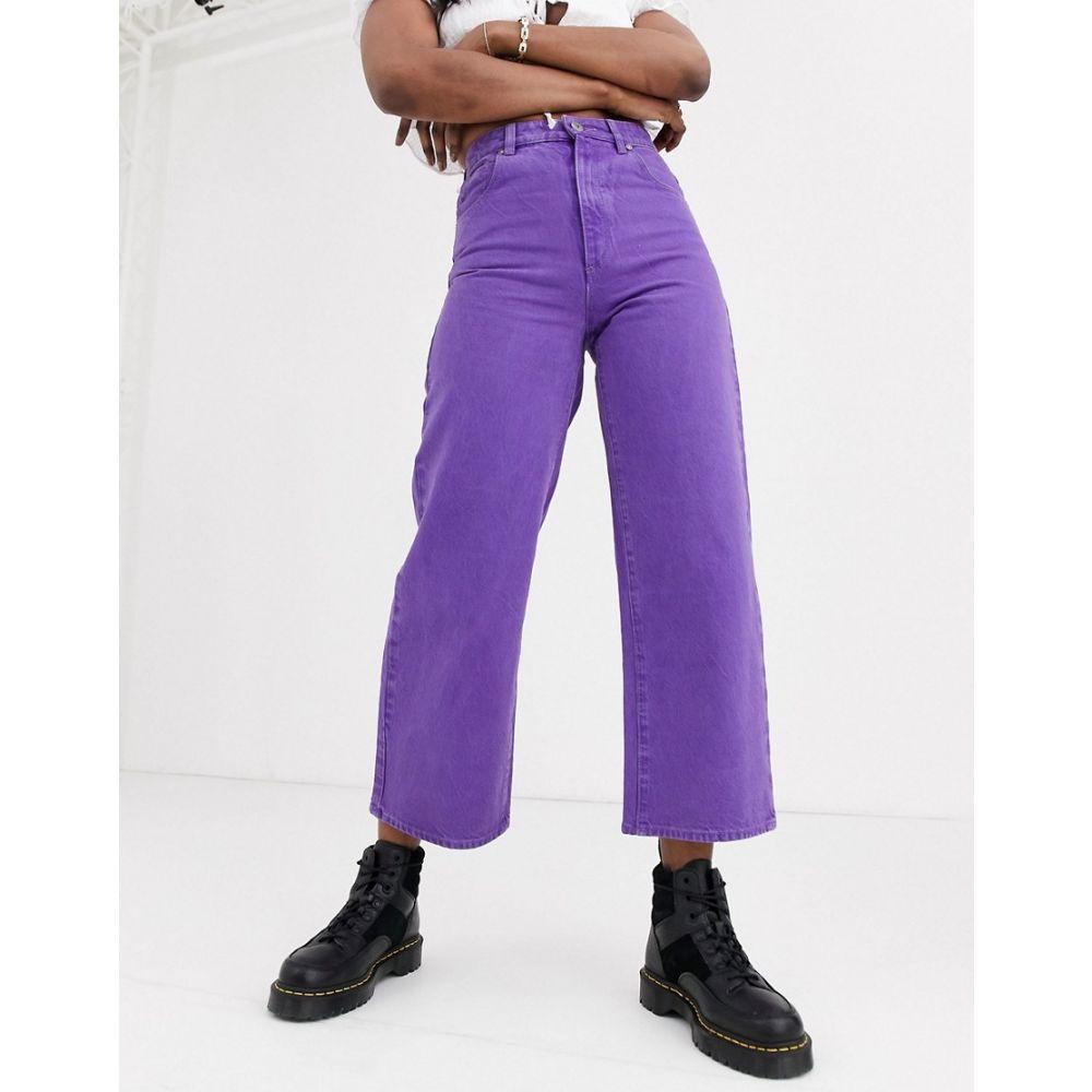 エーブランド Abrand Denim レディース ジーンズ・デニム ボトムス・パンツ【Abrand Street aline cropped jeans】Grape