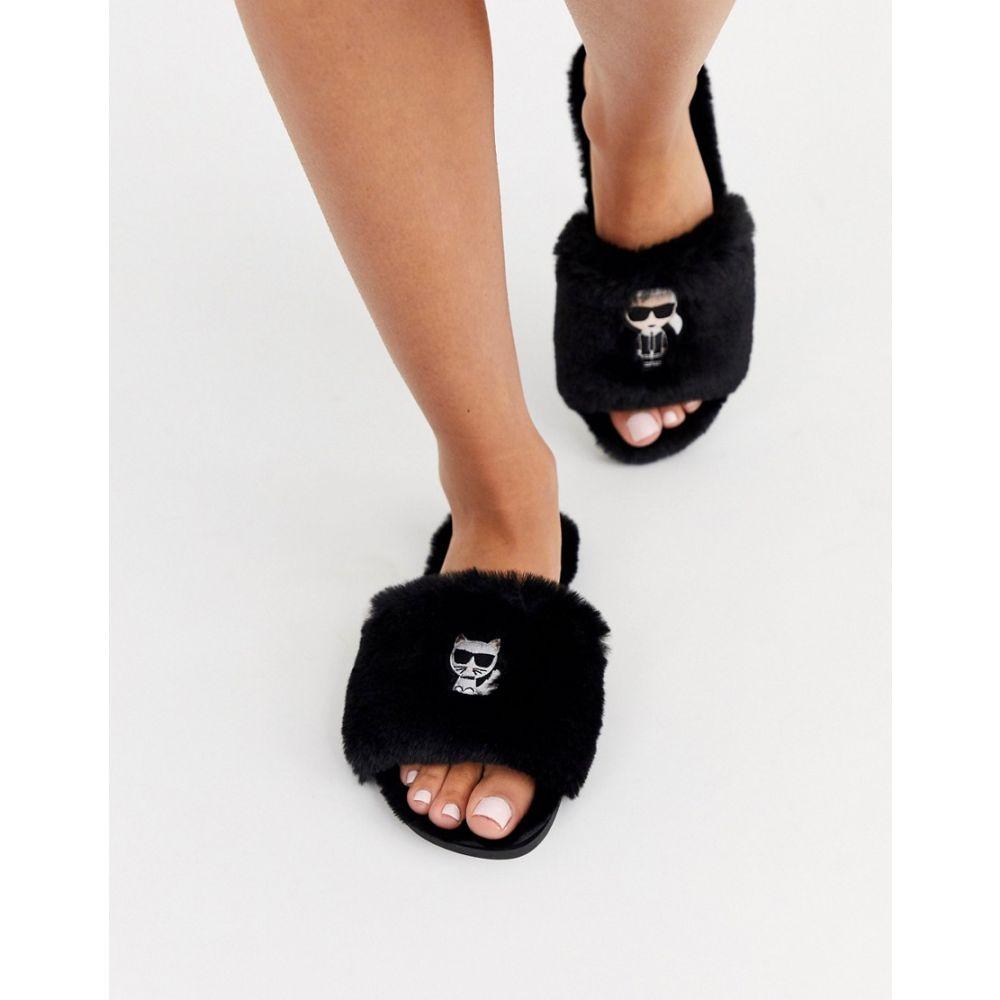 カール ラガーフェルド Karl Lagerfeld レディース スリッパ シューズ・靴【Iconic slipper in black】Black