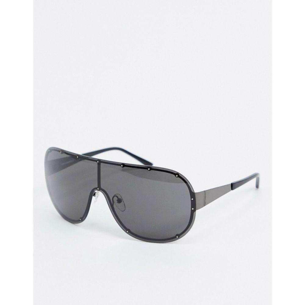 カール ラガーフェルド Karl Lagerfeld レディース メガネ・サングラス 【Kreative visor sunglasses】Black