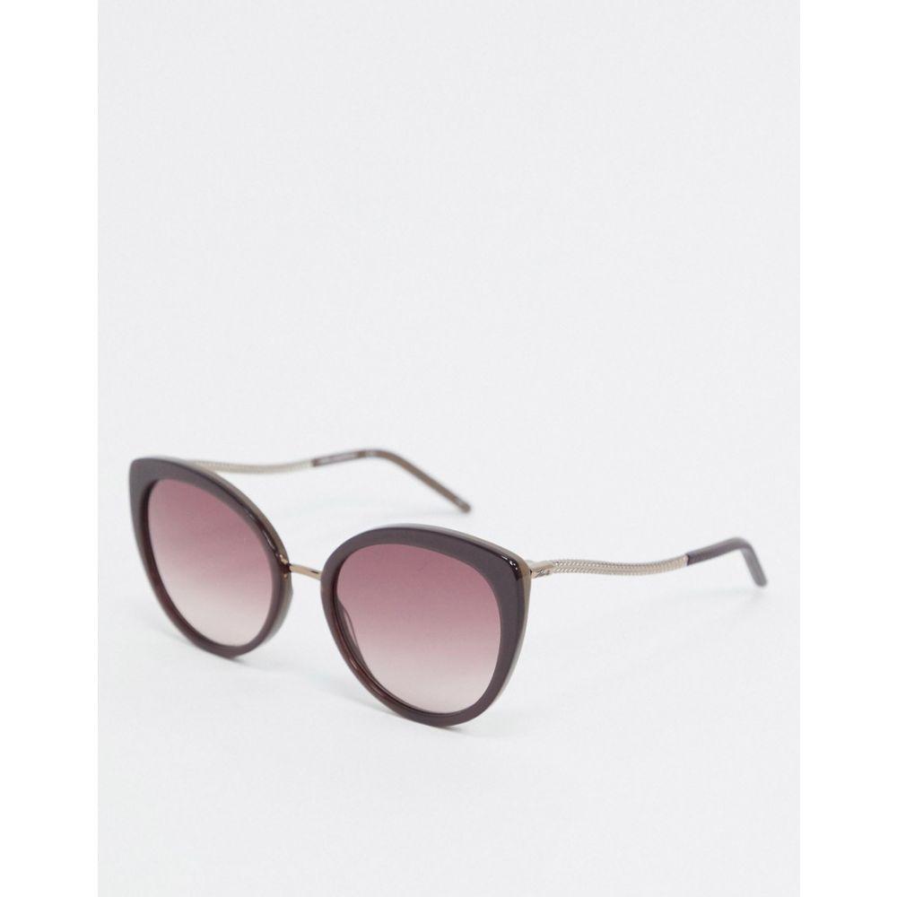 カール ラガーフェルド Karl Lagerfeld レディース メガネ・サングラス ラウンド【Ikonic round sunglasses in taupe】Brown
