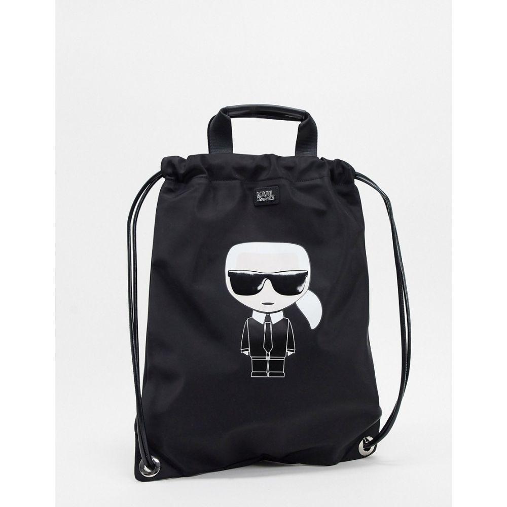 カール ラガーフェルド Karl Lagerfeld レディース バックパック・リュック バッグ【k/ikonik nylon flat backpack】Black