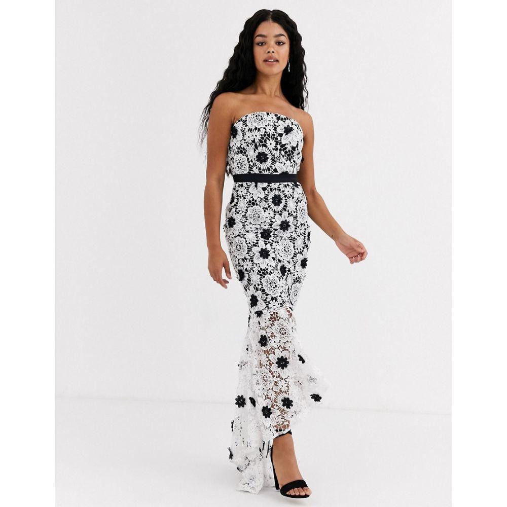 チチロンドン Chi Chi London レディース ワンピース ペンシル ワンピース・ドレス【lace pencil dress in monochrome】Black/white