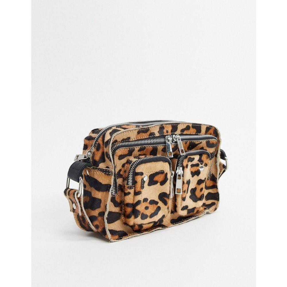ヌーノ Nunoo レディース ショルダーバッグ バッグ【Ellie cross body bag with front pockets in leopard faux pony】Leopard