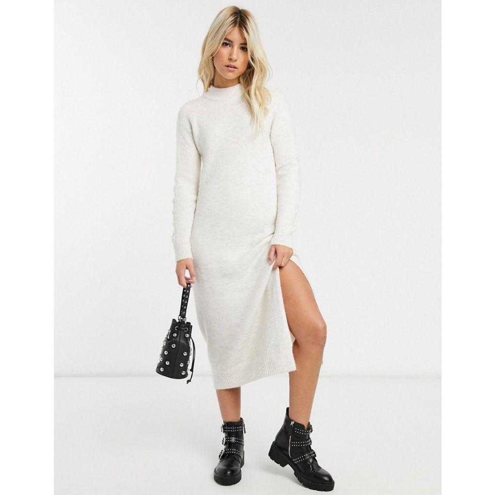 ピンキー Pimkie レディース ワンピース ワンピース・ドレス【crew neck knitted dress in beige】Beige